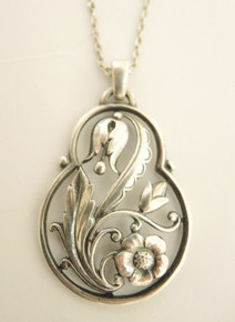 Vintage 1946 Swedish Silver Dalhberg & Co Pendant Necklace