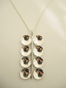 Vintage 1969 Swedish Silver Modernist Pendant Necklace