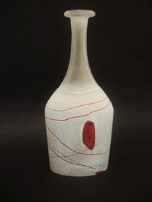 Vintage  Kosta Boda  Artist Collection Red Glaxay Vase Bertil Vallien