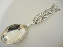 Vintage Norwegian 830S Silver Serving Spoon Magnus Aase