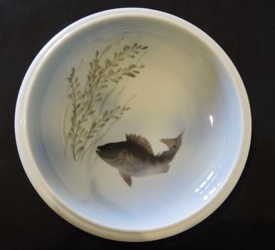 Vintage Royal Copenhagen Hand Painted Fish Bowl