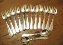 14 Piece Vintage Danish Cohr Silver Plate Cake Forks Set Hertha