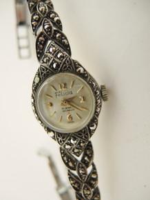 Vintage Australian Felicia Sterling Silver Marcasite cocktail watch