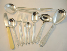 6 Person Vintage Danish Fredericia Silver Plate Hanne Cutlery Set