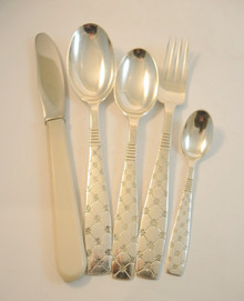 12 Person Vintage Danish Silver Plate Stjerne Cutlery Set Jens Harald Quistgaard