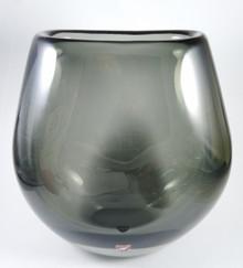 Vintage Orrefors Sven Palmqvist Large Smoke Art Glass Vase