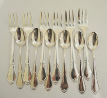 Vintage Danish Cohr Silver Ambrosius silver plate 12pce cake fork set