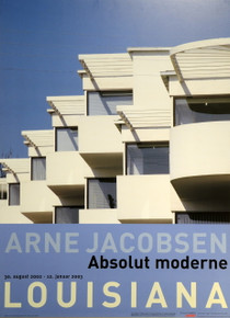"Arne Jacobsen Block Mounted Poster ""Absolut Moderne"" Exhibition Louisiana Museum of Modern Art"