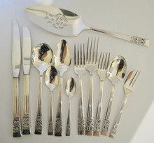 Vintage 67 pce Hampton Court Coronation Oneida Community Silver Plate Cutlery Set 6 Person #2