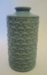 Vintage Danish Art Pottery Stoneware Blue Vase L Hjorth