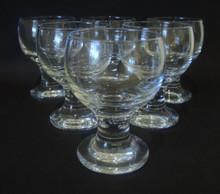 6 Vintage Holmegaard Kroglas - Danish Inn White Wine glasses Per Lutkin 1971