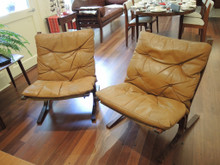 2 Mid Century Modern Norwegian Ingma Relling for Westnofa Siesta Chairs