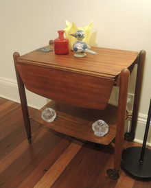 Mid Century Modern Teak Drop Side Tray Mobile