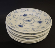 6 Vintage Bing and Grondahl Sommerfugl Butterfly 15cm plates