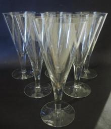 6 Vintage Holmegaard Clausholm Red Wine Flutes glasses Per Lutkin 1957
