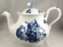 Rare Antique Royal Copenhagen Blue Flowers Antique teapot