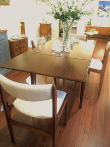 Vintage Mid Century Modern EN Mobler Danish Rosewood Extension Table