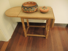Vintage Danish Drop Sided Small Table in French Oak