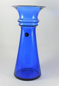 Vintage 1989 Holmegaard Blue Harmony Vase 28cm
