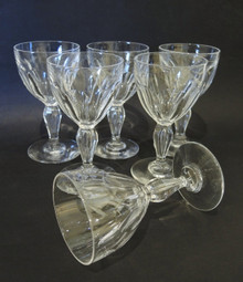 6 Vintage cut crystal Val St Lambert by Holmegaard Poul 100ml wine glasses