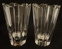 2 Vintage Orrefors Crystal Orion Vases Lars Hellsten