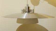 Vintage Mid Century Modern Spun Aluminium Scandinavian Light Fitting