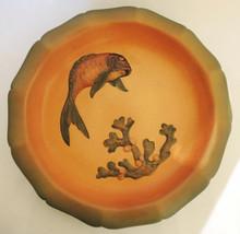 Art Nouveau Vintage Danish Art Pottery Ipsens 28cm Bowl Axel Sorenson