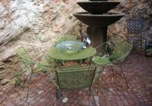Vintage Australian Mid Century Leo Conci Saucer Shape Garden Setting for 4