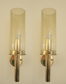 2 Vintage Hans Agne Jakobsson V-169 Wall lights Sconces Sweden.