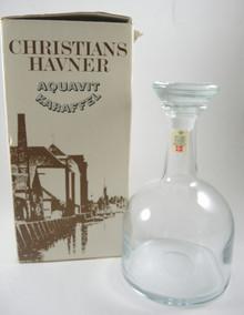Vintage Holmegaard Christians Havner Decanter Michael Bang Bent Woldstrup