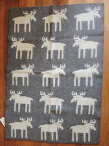 Brand New Klippan Lambs Wool Baby Blanket Moose 90cm x 130cm