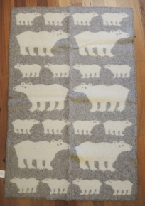 Brand New Klippan Lambs Wool Kids Blanket Polar Bear 90cm x 130cm