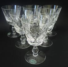 6 Vintage Stuart Crystal Glengarry Cambridge wine glasses