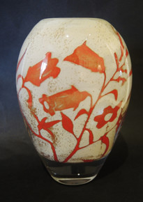 Vintage Kosta Boda Floating Flowers Vase Olle Brozen