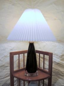 Vintage Orrefors Crystal Havana Table Lamp Carl Fagerlund 1960's