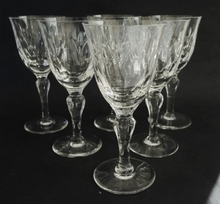 6 Vintage Stuart Crystal Camelot Red Wine Glasses