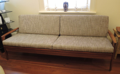 Vintage Australian Mid-Century Blackwood day bed / sofa & 2 Easy Chairs