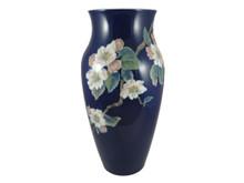 32cm Vintage Royal Copenhagen Hand Painted Apple Blossom Vase