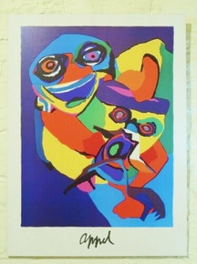 Vintage Karel Appel Art Poster Block Mounted.