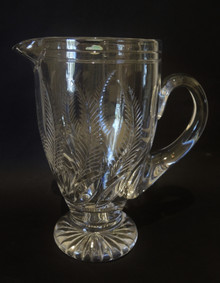 Vintage Stuart Crystal Water Ellesmere Jug Lu Kny 1930's