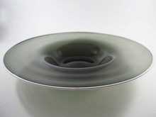 Rare & Vintage Whitefriars Shadow Green Soda Glass Bowl 9640