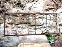 Rustic and Rusty Iron Vintage Fence Garden Panel
