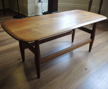 Vintage Australian T H Brown Solid Blackwood Coffee Table