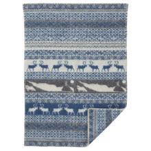 Brand New Klippan Lambs Wool Baby Blanket Sarek Blue