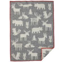 Brand New Klippan Eco Lambs Wool Baby Blanket Forest