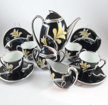 Friedrich Deusch Silver Overlay Coffee Set