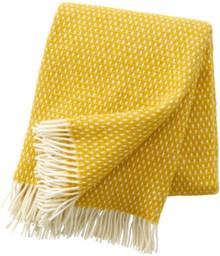 Klippan Lambs Wool Blanket Knut in Saffron