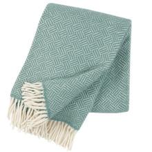 Brand New Klippan Samba Lambs Wool Throw Mint 200cm x 130cm