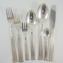 12 Person Vintage Danish Silver Plate Cutlery Set Regent By Victoria Set