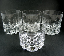 4 Orrefors Erik Olle Alberius Original Whisky Tumblers